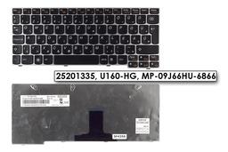 Lenovo IdeaPad S205, U160, U165 gyári új magyar fekete-ezüst laptop billentyűzet (25201335)