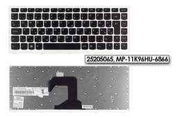 Lenovo IdeaPad S300, S400 gyári új fehér magyar laptop billentyűzet (25205065)