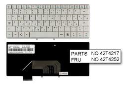 Lenovo IdeaPad S9, S9e, S10, S10e gyári új magyar fehér laptop billentyűzet (FRU 42T4252)