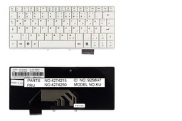 Lenovo IdeaPad S9, S9e, S10, S10e német fehér laptop billentyűzet, FRU 42T4250