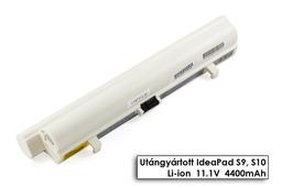 Lenovo IdeaPad S9, S9e, S10, S10e, S12 helyettesítő új 6 cellás fehér laptop akku/akkumulátor (L08C3B21)
