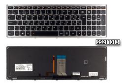 Lenovo IdeaPad U510, Z710 gyári új magyar ezüst keretes háttér-világításos laptop billentyűzet (25211313)