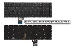 Lenovo IdeaPad U530 (touch), U530P, Flex 2 Pro 15 gyári új magyar fekete háttér-világításos keret nélküli laptop billentyűzet