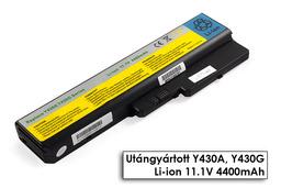 Lenovo IdeaPad Y430, Y430A, Y430G helyettesítő új 6 cellás laptop akku/akkumulátor (42T5229)