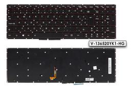Lenovo IdeaPad Y50-70, Y50p-70, Y50-80 gyári új fekete-piros háttér világításos magyar laptop billentyűzet (25215977)
