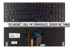 Lenovo Ideapad Y580 használt magyar háttérvilágitásos laptop billentyűzet, 9Z.N5SBC.10Q