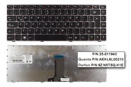 Lenovo IdeaPad Z370, Z470 gyári új latin ezüst laptop billentyűzet (25-011943)
