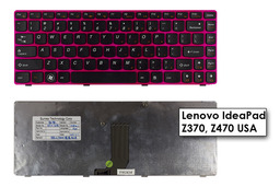 Lenovo IdeaPad Z370, Z470 gyári új US angol pink laptop billentyűzet