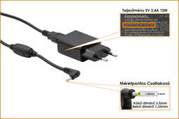 Lenovo Miix 300 5V 2,4A 12W gyári új tablet töltő (GX20K98898, HKC0125024-3C)
