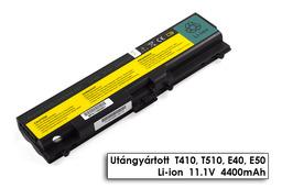 Lenovo ThinkPad T510 laptop akkumulátor, új, gyárival megegyező minőségű helyettesítő, 6 cellás (4400mAh - 5200mAh)