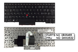 Lenovo ThinkPad Edge E330, E335 használt magyarított német laptop billentyűzet (04W2532)