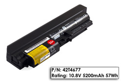 Lenovo ThinkPad R400, R61, T400, T61 14 inch Wide Screen gyári új laptop akku/akkumulátor  FRU 42T4677,