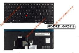 Lenovo ThinkPad T431s, T440, T440s használt magyar háttér-világításos laptop billentyűzet, 04X0116