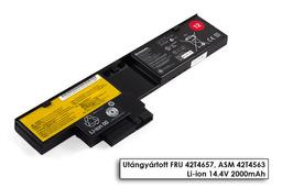 Lenovo ThinkPad X200t, X201t gyári új 4 cellás laptop akku/akkumulátor (FRU 42T4657)