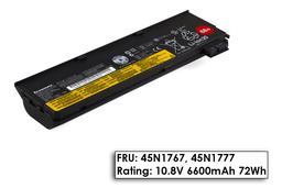 Lenovo ThinkPad X260 laptop akkumulátor, gyári új, 6 cellás (6600mAh)