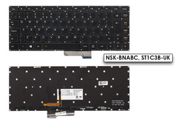Lenovo Yoga 2 13, IdeaPad E31-70, E31-80 gyári új UK angol háttér-világításos laptop billentyűzet (25215065)