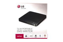 LG fekete SLIM USB külső DVD Író, GP50