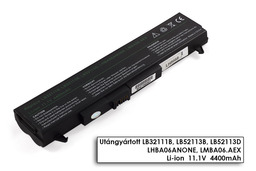 LG P1 sorozat P1 laptop akkumulátor, új, gyárival megegyező minőségű helyettesítő, 6 cellás (4400mAh)
