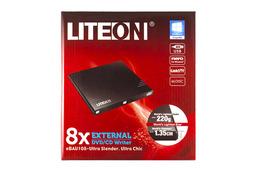 LiteON fekete SLIM USB külső DVD Író, eBAU108-01
