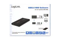 LogiLink 2.5 inch SATA-USB külső winchester keret (fekete)