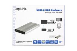 LogiLink 2.5 inch SATA-USB külső winchester keret (szürke)