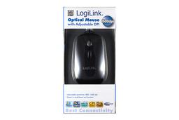 LogiLink USB-s fekete-zöld optikai egér, 1600 dpi, ID0042 V.3.0 - vezetékes