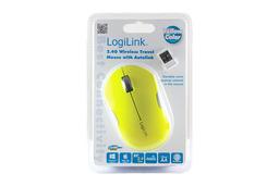 LogiLink USB-s sárga optikai egér, ID0122 Vezeték nélküli