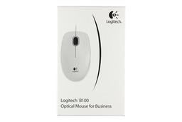Logitech B100 USB fehér optikai vezetékes egér