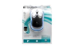 Logitech m185 USB kék optikai vezeték nélküli egér (910-002239)