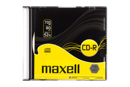 Maxell CD lemez CD-R80 52x Slim tok, MXL 624005.01.CN