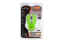 Media Tech Port RF vezeték nélküli USB zöld optikai egér, MT1098