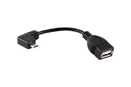 Micro Usb 90 fokos To Usb anya kábel, 11cm, telefonhoz és tablethez (OTG)