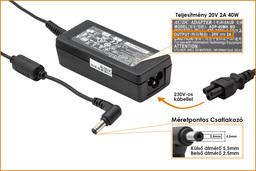 MSI Wind sorozat Wind U123 20V 2A 40W-os laptop töltő