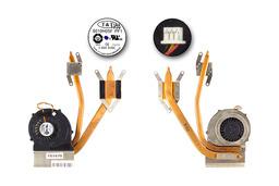 MSI CR620, CX620, CX623 laptophoz használt komplett hűtő ventilátor (E32-0800502-TA9, E32-0800562-TA9)