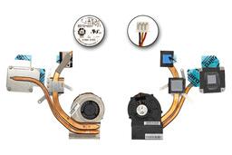 MSI EX620, EX623, EX625, EX630 gyári új komplett laptop hűtő ventilátor, E32-0900624-TA9