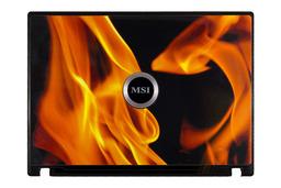MSI GX610, M670, MS-1034, VR610, VR610X laptophoz használt LCD hátlap (37-632A917-H74) C kategóriás