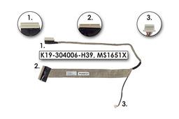 MSI GX620, GX630, GX633 laptophoz használt kijelző kábel, K19-304006-H39, MS1651X