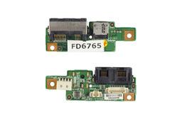 MSI GX700-MS1719 laptophoz használt LAN,MODEM,DC-Jack panel (MS-1719A)