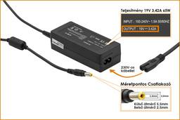 MSI laptop töltő 19V 3.42A 65W  (PA-1650-01, 0335C206)