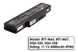MSI MegaBook BTY-M66, BTY-M67 gyári új 6 cellás laptop akkumulátor