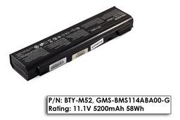 MSI MegaBook EX700, GX700, L745 használt 70%-os, 6 cellás laptop akku/akkumulátor (BTY-M52)