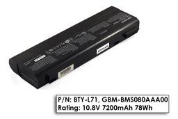 MSI MegaBook L710, M522 használt 80%-os, 9 cellás laptop akku/akkumulátor (BTY-L71)