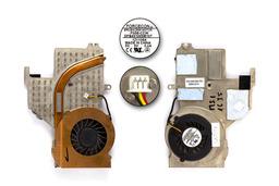 MSI Megabook M673X, MS-1635 használt komplett laptop hűtő ventilátor egység (E32-0401362-F05)