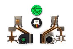 MSI MS-16362 használt komplett laptop hűtő ventilátor egység (AB0605HX-HE3)