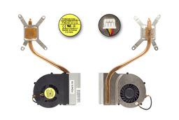 MSI VR602X laptophoz használt komplett laptop hűtés (E32-0900630-F05)