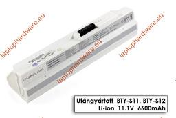 MSI Wind U90, U100, U130 helyettesítő használt 70%-os 9 cellás fehér laptop akku/akkumulátor (BTY-S12)