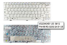 MSI Wind U90, U90X, U100, U100X gyári új US angol fehér netbook billentyűzet (V022340AS1 US)