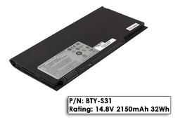 MSI X320, X370, X400 laptophoz 4 cellás használt 70%-os akkumulátor, BTY-S31
