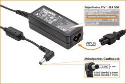 Packard Bell 19V 1.58A 30W gyári új netbook töltő (PA-1300-04, ADP-30JH B)