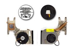 Packard Bell EasyNote B3000, B3605 használt komplett laptop hűtő ventilátor egység (DFB601005M30T)